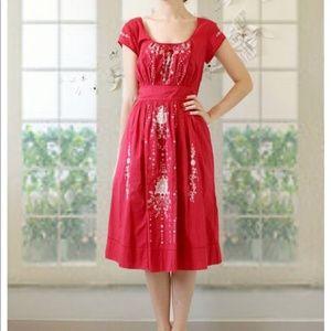 Anthropologie Lil Harissa Embroidered Dress